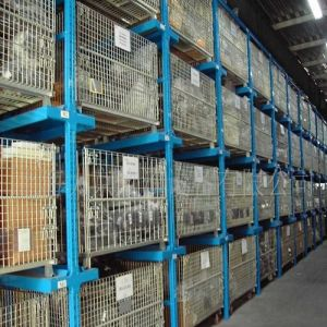 Exported Industrial Warehouse Logistics Storage Wire Mesh Containers pictures & photos