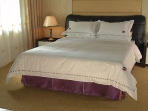 Cotton Bed Linen, Star Hotel Bedding Set pictures & photos