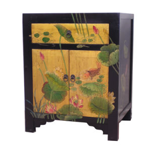 Golden Painting Small Cabinet (BG-023)