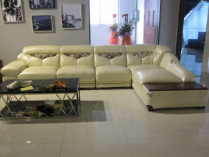 Sofa, Leather Sofa (8A016)
