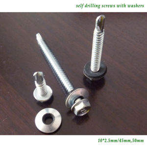 "Screw/Self-Driling Screw /Hex Head Self-Drilling Screw (5.5x25mm (#10x1"")) pictures & photos"