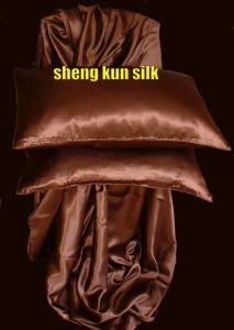 Silk Fitted Sheet and Pollow Cases Set (SKSY-126)