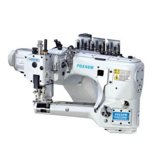 Direct Drive 4 Needle 6 Thread Feed-off-The-Arm Flat Seaming Machine pictures & photos
