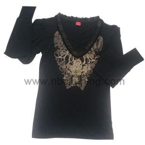 Ladies V Neck Long Sleeve T-Shirt (LT-07-06)
