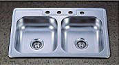 Cupc North American Double Bowl Stainless Steel Sink (KTD3322) pictures & photos
