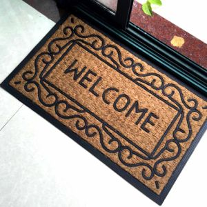 Non Brush Woven Inlaid Creel Corridor Hollander Panama Mould Emboss Engrave Pattern Rubber Coco Coir Coconut Fiber Doormats pictures & photos