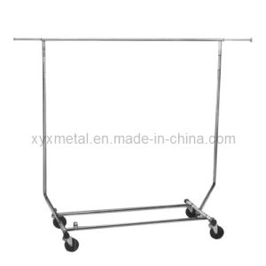 Collapsible/Folding Rolling Clothing/ Telescopic Garment Salesman Clothes Rack pictures & photos