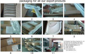Four Panel Shower Door Screen Hot Selling Shower Enclosure Simple Shower Cabin Shower Cabin Bathroom Accessories Sanitaryware pictures & photos