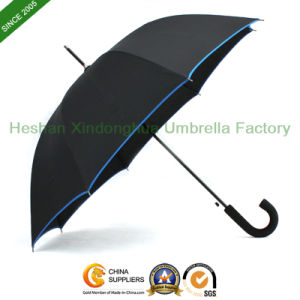 "27"" Automatic Fiberglass Golf Umbrella with Rubber Handle (GOL-0027BFR) pictures & photos"
