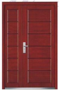 One and a Half Steel Wooden Door (EWS039)