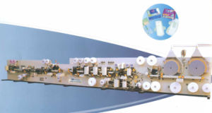 HD-Wsj-Slky Double Forming Routes Sanitary Napkin Machine