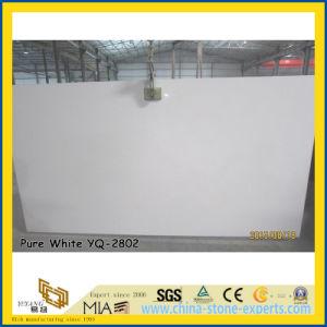 Hot Sale Pure White Quartz Stone Slabs (YQ-2802) pictures & photos
