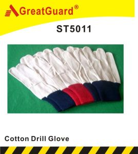 Cotton Drill Glove (ST5020) pictures & photos