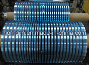 Laminated Coating Film Polyester Tape Insulation Mylar Aluminium Foil Blue Slitting Tape pictures & photos