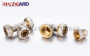 Brass Compression Fitting for Pex-Al-Pex Pipe/Brass Compression Tee pictures & photos