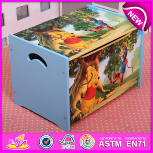 Wooden Cartoon Toy Storage Box for Kids, Decorative Children Wooden Toy Storage Box OEM Available W08c130 pictures & photos