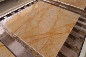 Natural Gold Marble Cut-to -Size Tile pictures & photos