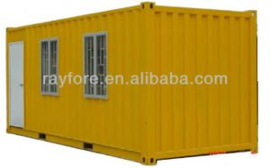 Simple Container House with Floor Windows and Decoration pictures & photos