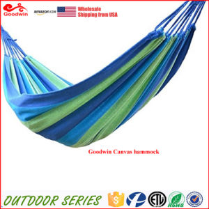 Wholesale Outdoor Hammock with Polyester Cotton Canvas Material
