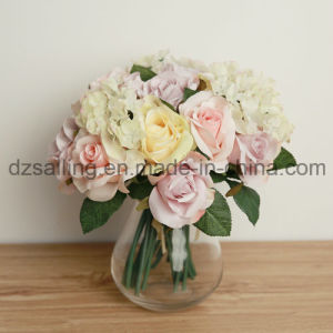 Widely-Used Artificial Flower of Rose and Hydrangea Bouqet for Decoration (SF12510) pictures & photos