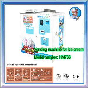 Vending machine /Self service soft serve freezer (CE Approved) (HM736) pictures & photos
