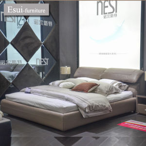 Popular and Global Hot Selling Bedroom Furniture Genuine Leather Bed