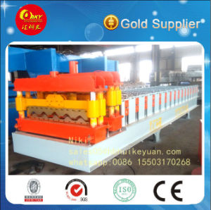 PLC Control Glazed Tile Roll Forming Machine pictures & photos