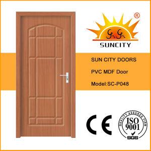 Good Sale Oak MDF PVC Bathroom Doors Price (SC-P048) pictures & photos