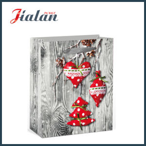 New 2016 Design-Wood Style Christmas Packing Gift Paper Bag pictures & photos