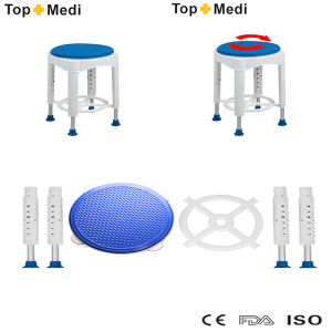 Topmedi Bathroom Safety Aluminum Rotating Plastic Shower Bath Bench pictures & photos