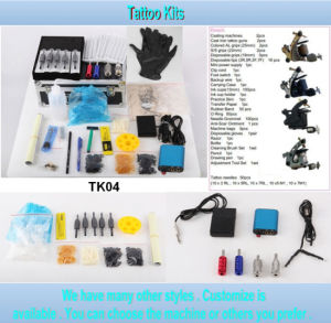 4 Gun Style Wholesale Tattoo Kit with High Quality Tk04 pictures & photos