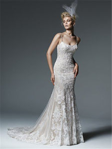 2016the New Custom Made Lace Mermaid Wedding Dress pictures & photos