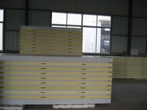 Light Weight Steel Polyurethane PU Sandwich Panels pictures & photos