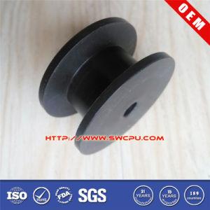 Black Plastic Rope Guide Plastic Roller for Conveyor Machine (SWCPU-P-R620) pictures & photos