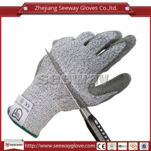 Seeway Hhpe Palm PU Coated Working Safety Cut Resistant Gloves