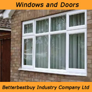 Soundproof UPVC Window with Tempered Glass pictures & photos