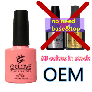 Excellent Toughness No Smell One Step Gel Polish with 93 Colors pictures & photos