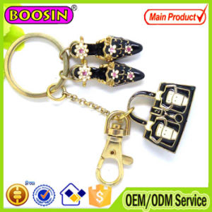 High Quality! Chinese Design Red Crystal Flower Printed Bag Key Chains pictures & photos