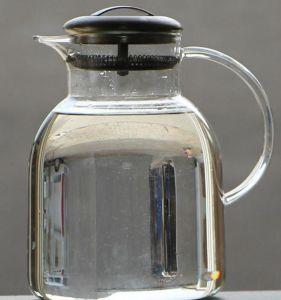 Customize Logo Glass Tea Pot Set Drink Tea Jug Glass Tea Pitcher with Infuser pictures & photos