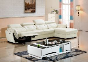 Home Furniture Leather L Shape Sofa with Recliners/I Shaped Sofa Designs Sofa pictures & photos