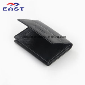 Popular Black Wallet with Genuine Leather pictures & photos