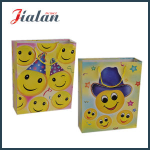 128GSM Glossy Laminated Coated Paper Gift Bag with Smile Face pictures & photos