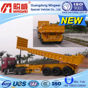 38cbm/9m/CCC/ISO/ 3 Axles Box-Type-Low-Wall Tipper Semi Trailer