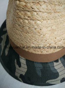 60%Raffia Straw30%Cotton10%Polyester with Groovy Green Fedora Hats pictures & photos
