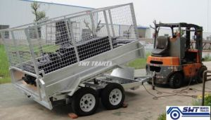 Large Capacity Economic Tandem Tipping Trailers (SWT-HTT105) pictures & photos