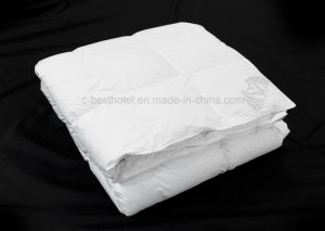 Wholesale Hotel White Plain Duck Feather Down Quilt pictures & photos