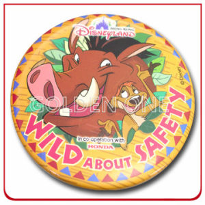 Wholesale Disney Cartoon Full Color Printed Lapel Pin pictures & photos