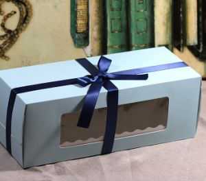 Fashion Paper Cardboard Cookies Box with Clear Window pictures & photos