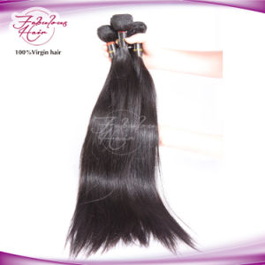 Natural Mink Hair Silk Brazilian Straight Hair Weave pictures & photos
