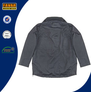 Waterproof Breathable Nylon Winter Padded 2 in 1 Rain Jacket pictures & photos